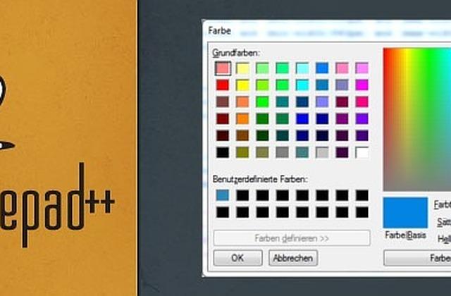 Notepad++ ColorPicker Plugin