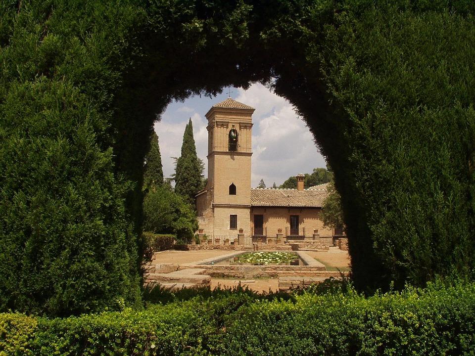 Alhambra, Spagna, Vecchio, Costruzione, Siepe, Chiesa