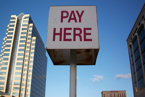 Pay Here, Sign, Texas, Parking, Downtown