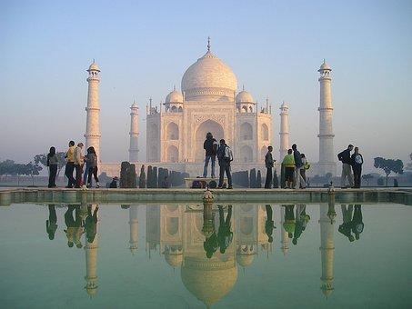 L'Inde, Taj, Mahal, Agra, Temple