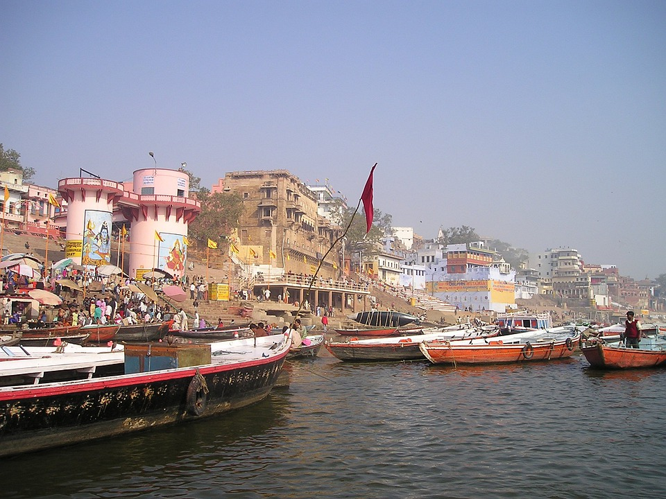 India, Ganges, Holy, River, Boats