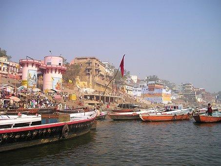 Ấn Độ, Hằng, Thánh, Chảy, Thuyền