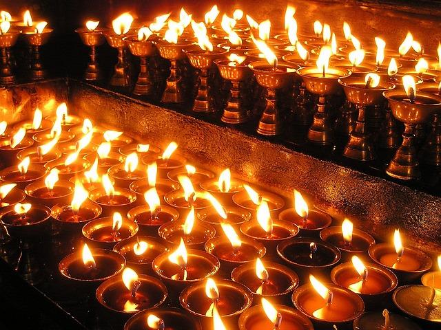 Free Photo Nepal Candles Prayer Light Holy Free