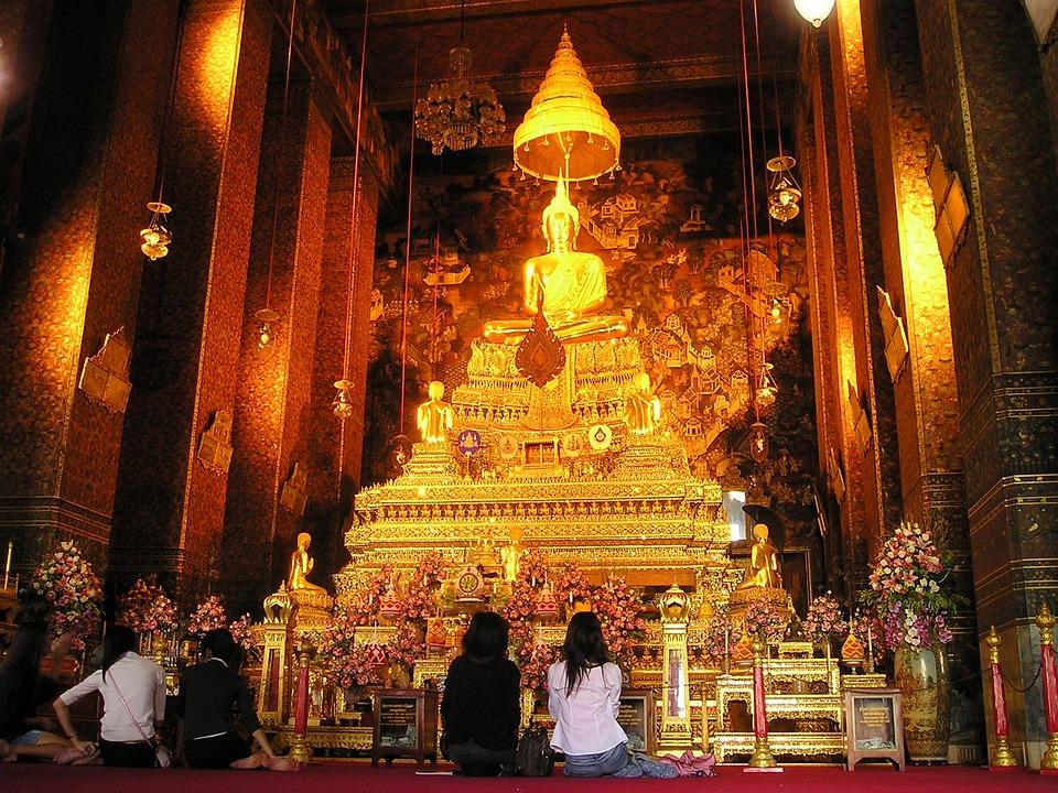 ประเทศไทย, กรุงเทพฯ, วัด, ศาลเจ้า, ทอง, แท่นบูชา