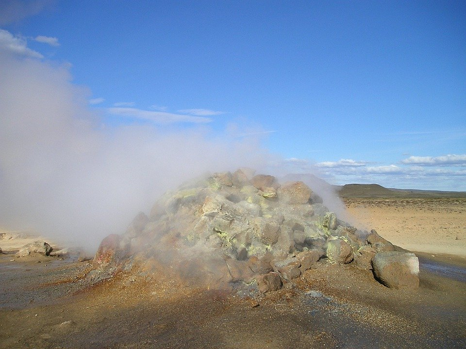 Vulcano, Vulcanismo, Caldo, Di Zolfo, Vapore, Islanda