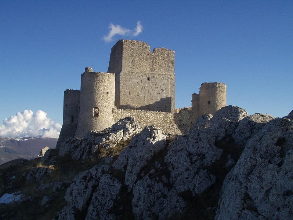 Castello, Rovina, Vecchio, Torri, L'Aquila, Italia