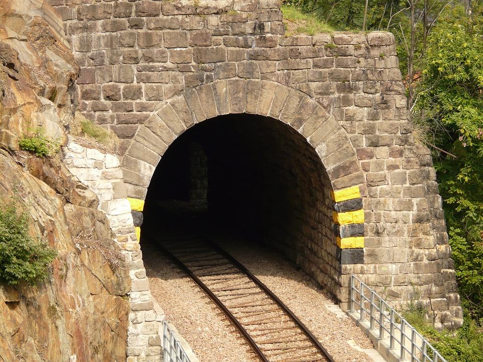 Eisenbahtunnel, Tunnel, Railway, Rail, Rails, Track