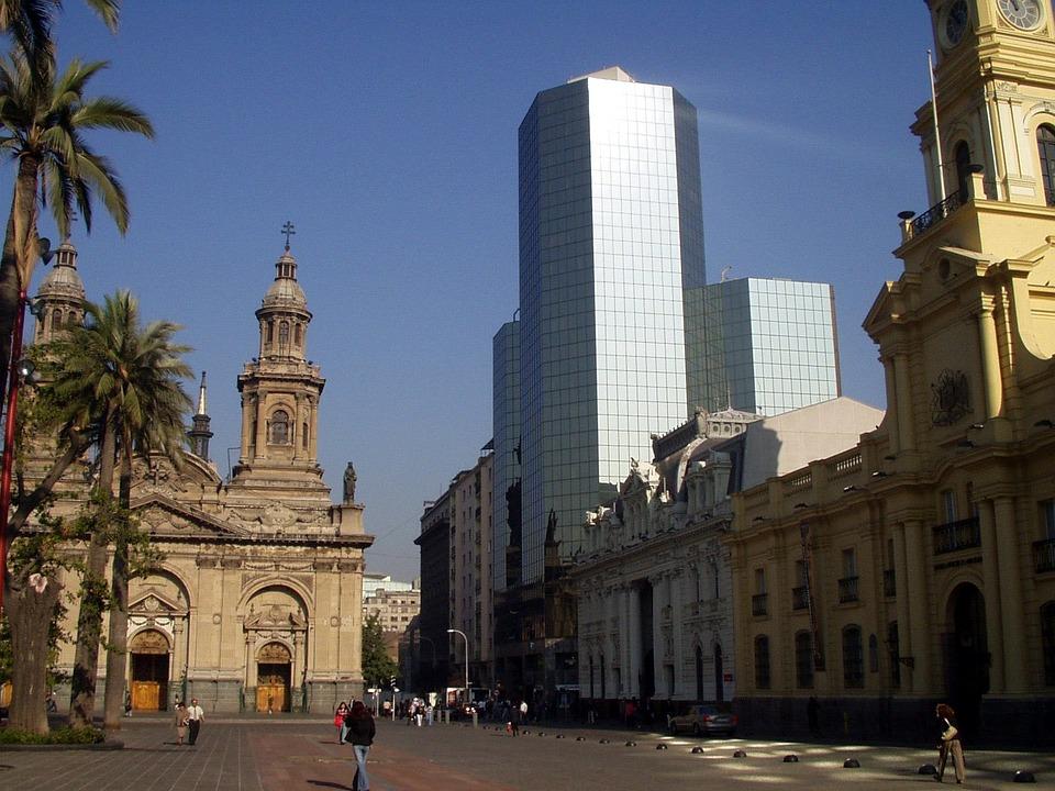 Santiago, Miasta, Centrum, Drapacz Chmur, Giełda, Chile