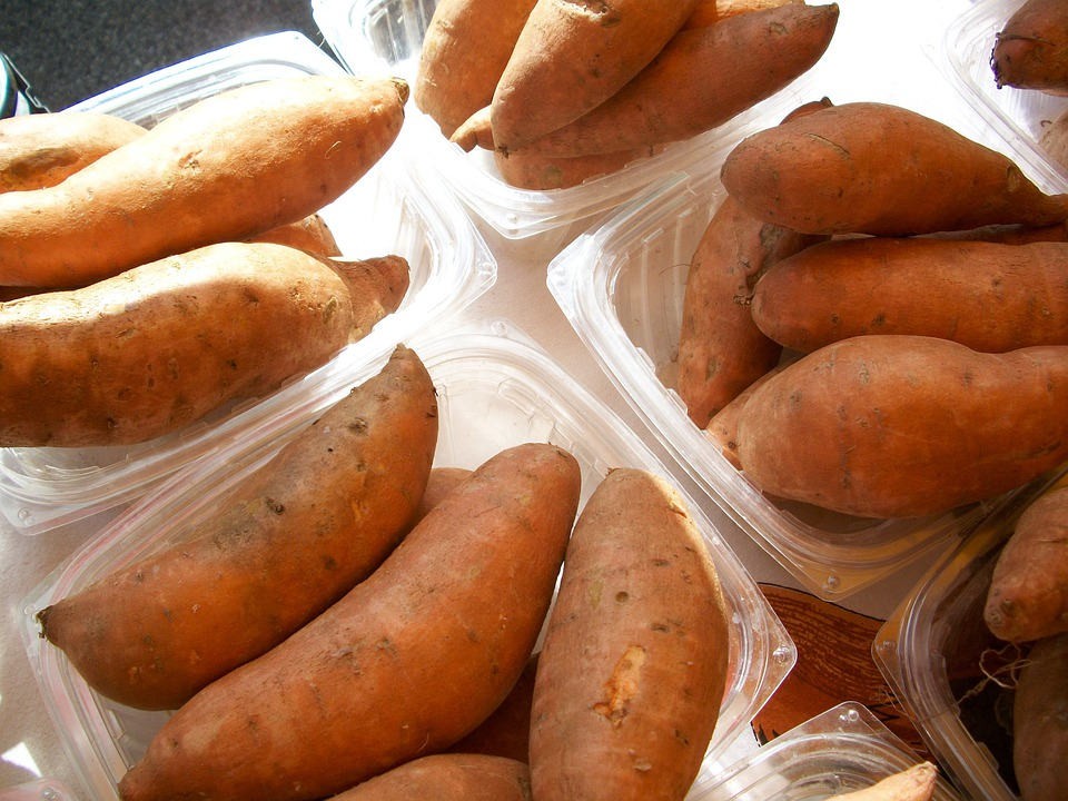 Sweet-Potatoes, Yams, Vegetables, Root, Produce
