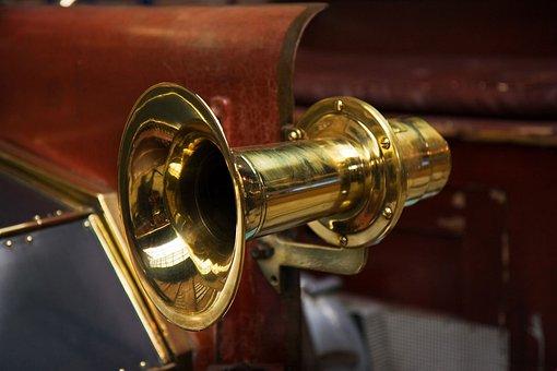 Car, Horn, Brass, Metal, Klaxon, Old