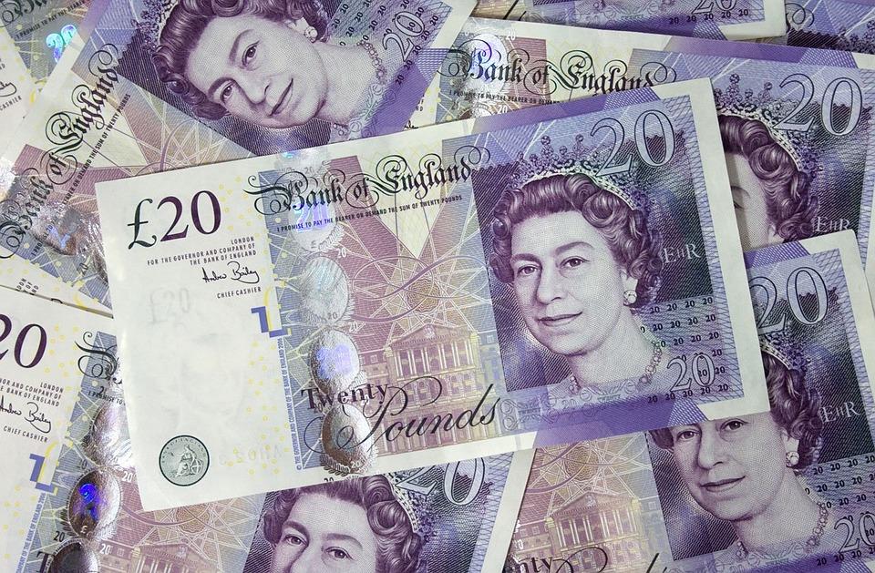 Penger, Bank, Notater, Regningen, Sedler, British