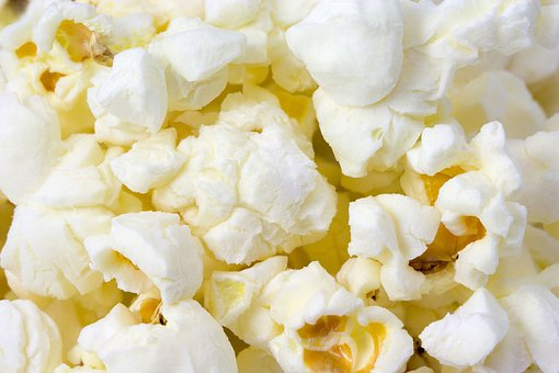 Corn Pop Popcorn Food Sweet Cinema Macro D