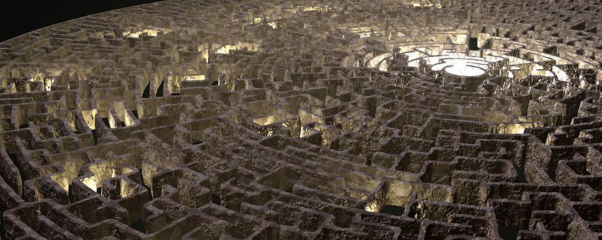 Maze, Graphic, Render, Labyrinth, Design
