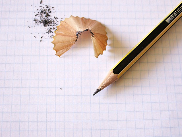 pencil writing on paper