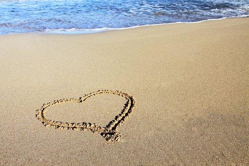 Background, Beach, Coast, Heart