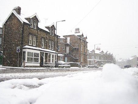 Blizzard, City, Cold, Freeze, Frost