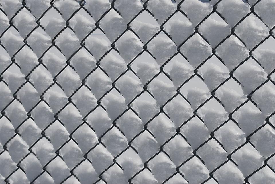 Schnee Zaun Kette Kostenloses Foto Auf Pixabay