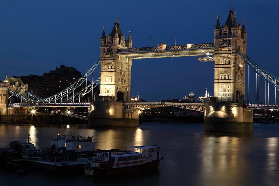 ブリッジ, ロンドン, アーキテクチャ, ロンドンブリッジ, 点灯, インフラストラクチャ, 川, テムズ川