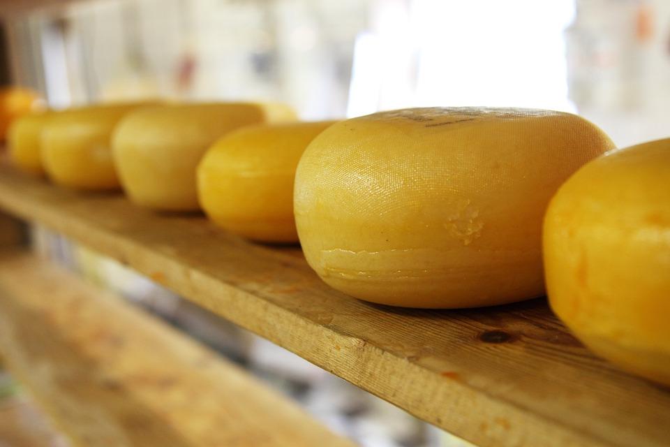 チーズ, 円, 円形の, 乳製品, オランダ, 食べる, 食品, 楕円形の, パターン, 杭, ラウンド