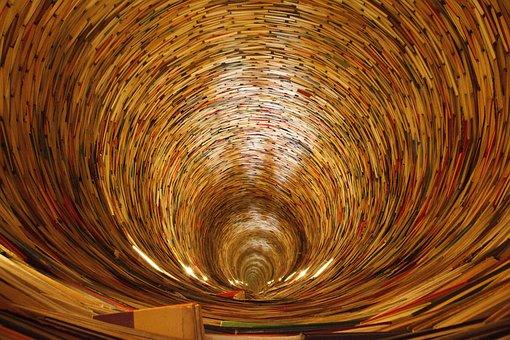 Livre, Livres, Cercle, Bouclé