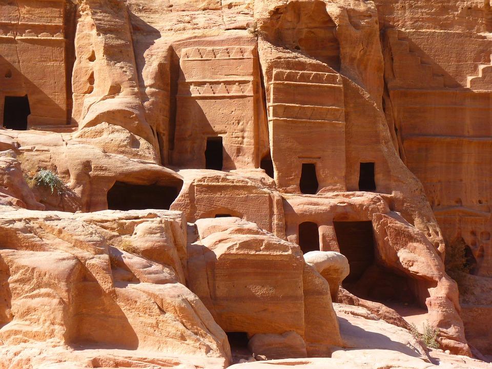 Free photo: Petra, Jordan, Holiday, Travel - Free Image on ... Black Stone Flower