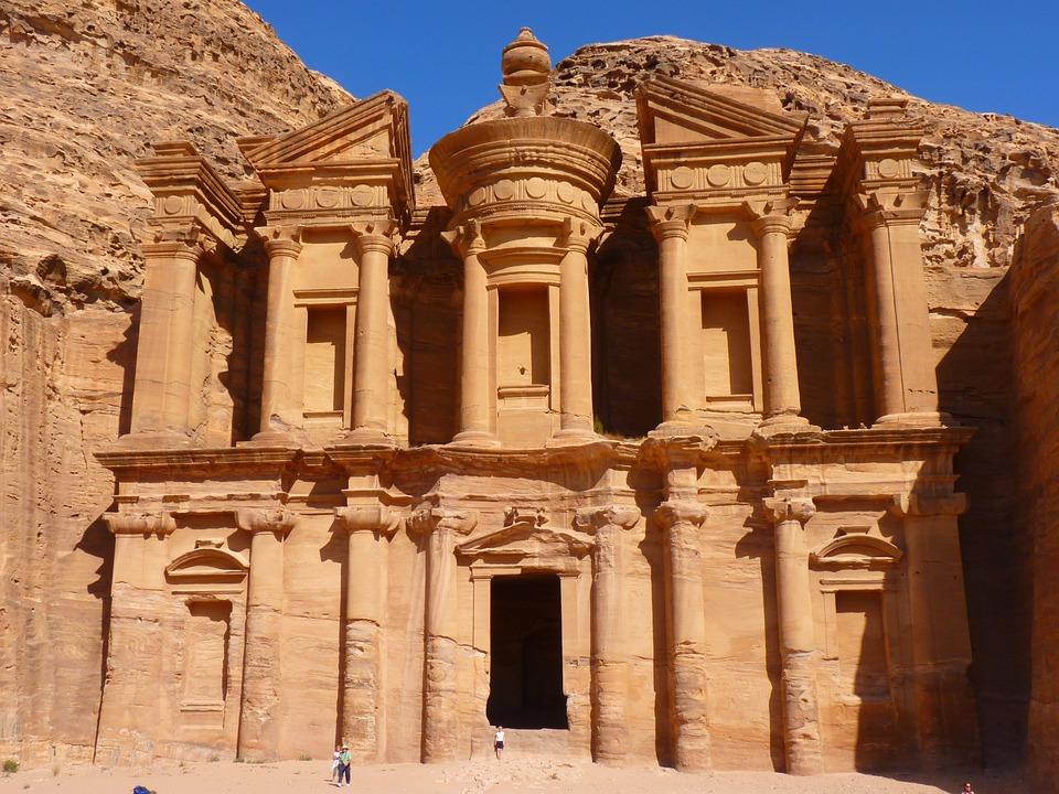 Ed Deir, Klasztor, Petra, Jordania, Wakacje, Podróży