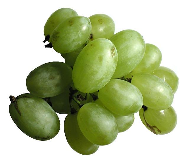 Unripe Strawberries Grapes White Gr...