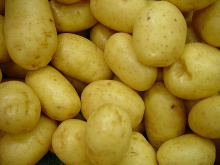 Potatoes, Vegetables, Raw, Uncooked