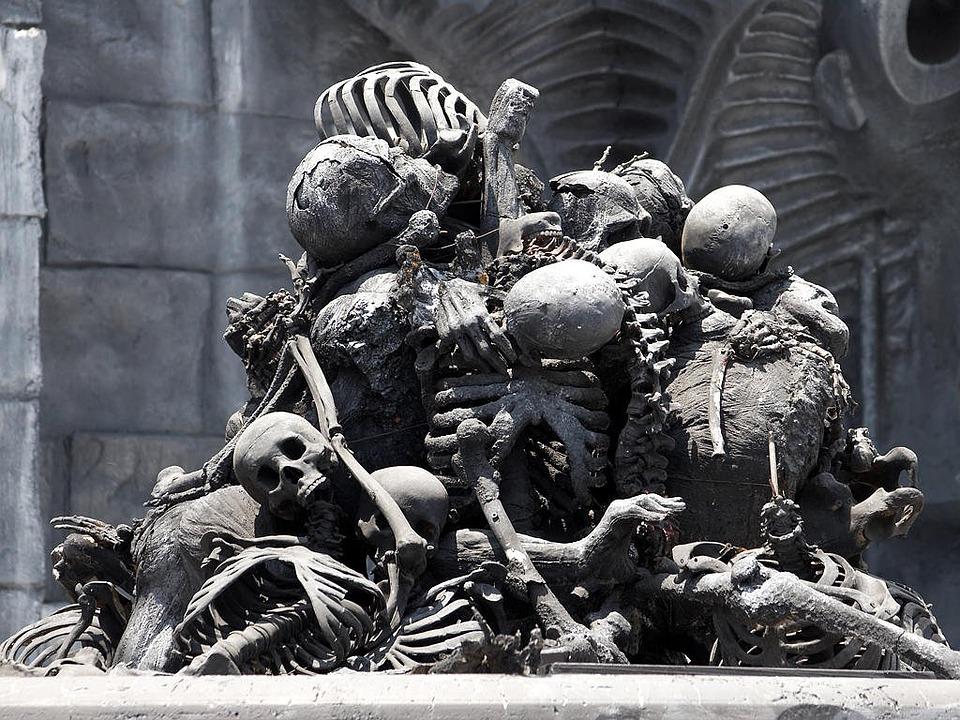 Bone Pile Skull Frame Free Photo On Pixabay