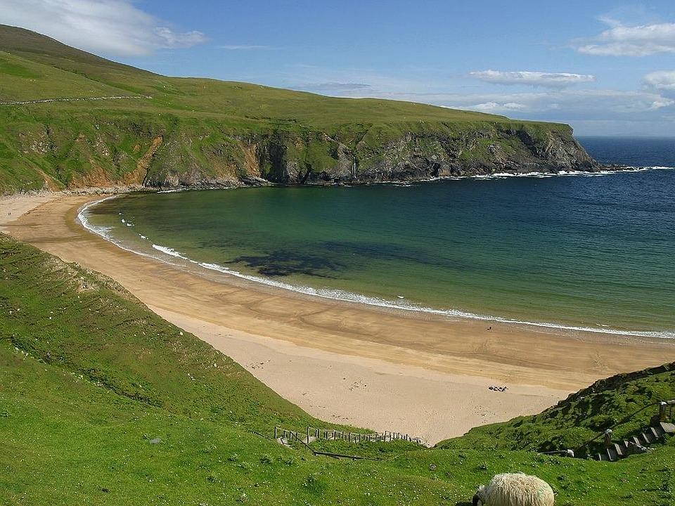 Ireland, Bay, Coast, Sea, Green, Reported, Beach