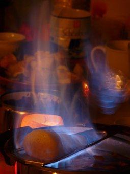 Feuerzangenbowle, Feuer, Flamme
