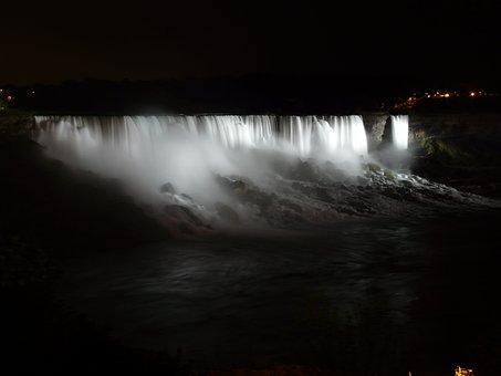 Niagara Falls Niagara Water Waterfall Nigh