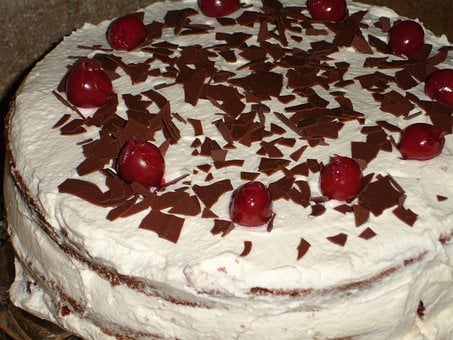 Black Forest Cake Cake Eat Food Cream Cher