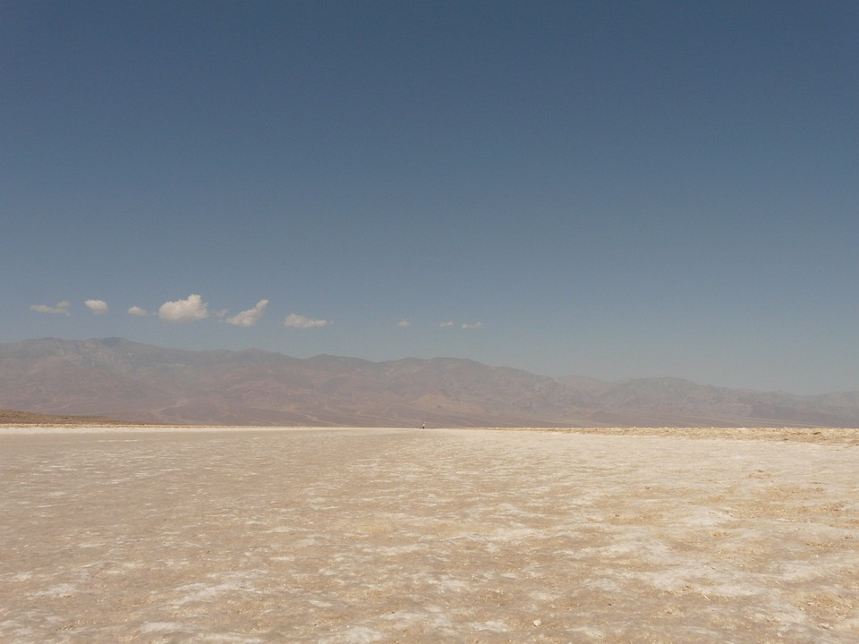 バッドウォーター, 塩田, 塩湖, 塩, 死の谷, 国立公園, デスバレー国立公園, モハーベ砂漠