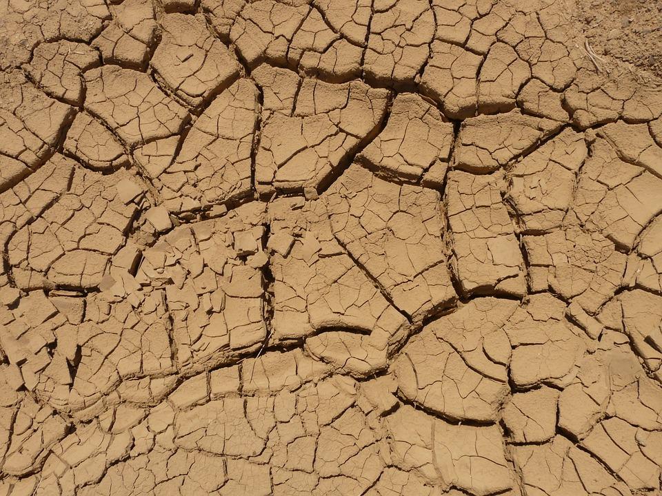 Boden, Trocken, Ausgedörrt, Wüste, Riss, Spalte