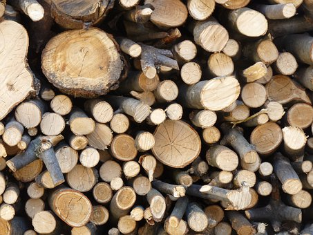 Wood, Stack, Work, Firewood, Stock