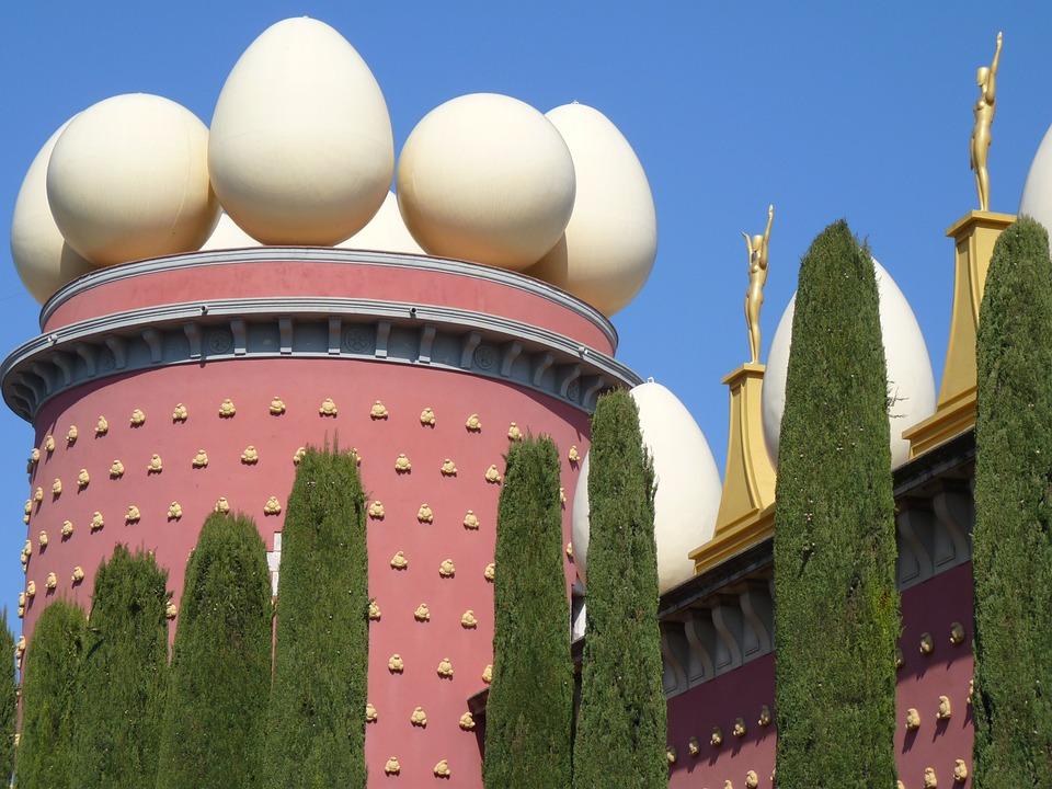 卵, 博物館, ダリ, フィゲラス, スペイン, 建物