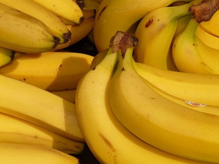Banana Fruit Healthy Yellow Tropical Food
