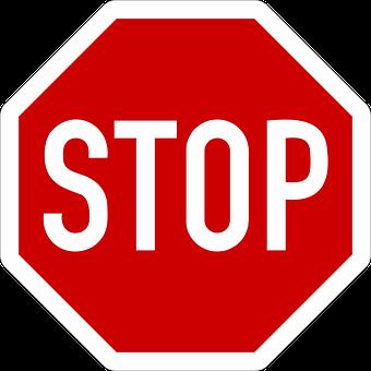 Panneau De Signalisation temporaire stop