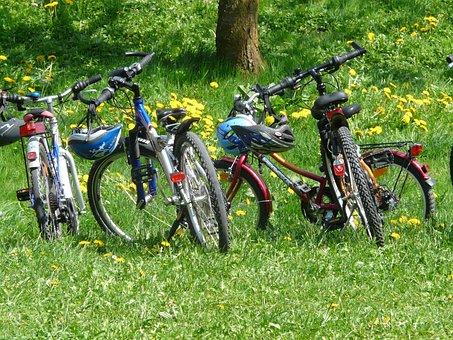 Cyklar, Cykel, Familjeutflykt, Cykeltur