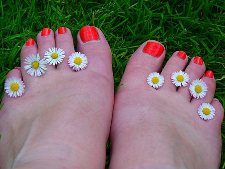 Feet Ten Nail Varnish Bright Orange Anatom