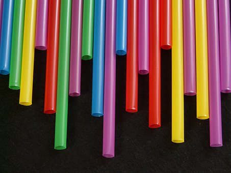 Straws Tube Plastic Colorful Color Drink T