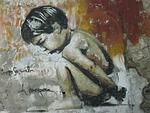 graffiti, mały chłopiec, granada