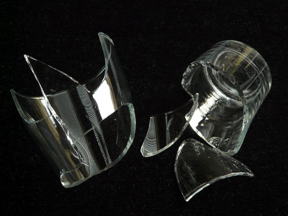 shard broken glass glass sharp broken cut pointed - Broken Glass Vase