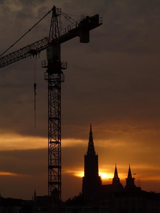 Photo gratuite baukran crane image gratuite sur for Chantiers de construction