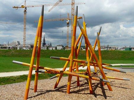 Klettergerüst Stahl : Klettergerüst din en «trim dich klettersystem vom