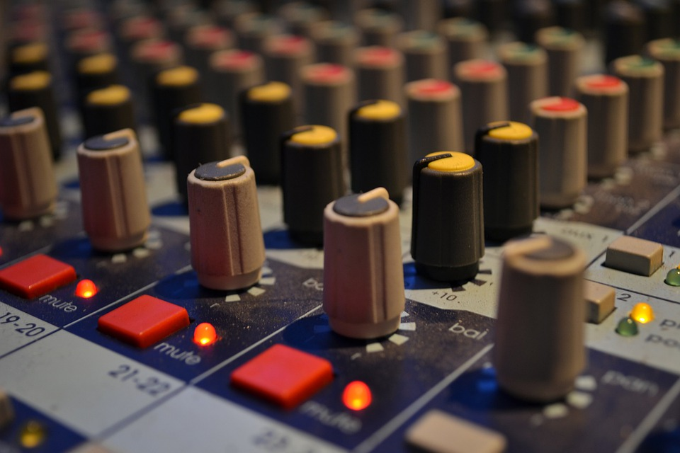 Free Photo Audio Mixing Board Music Studio Free Image