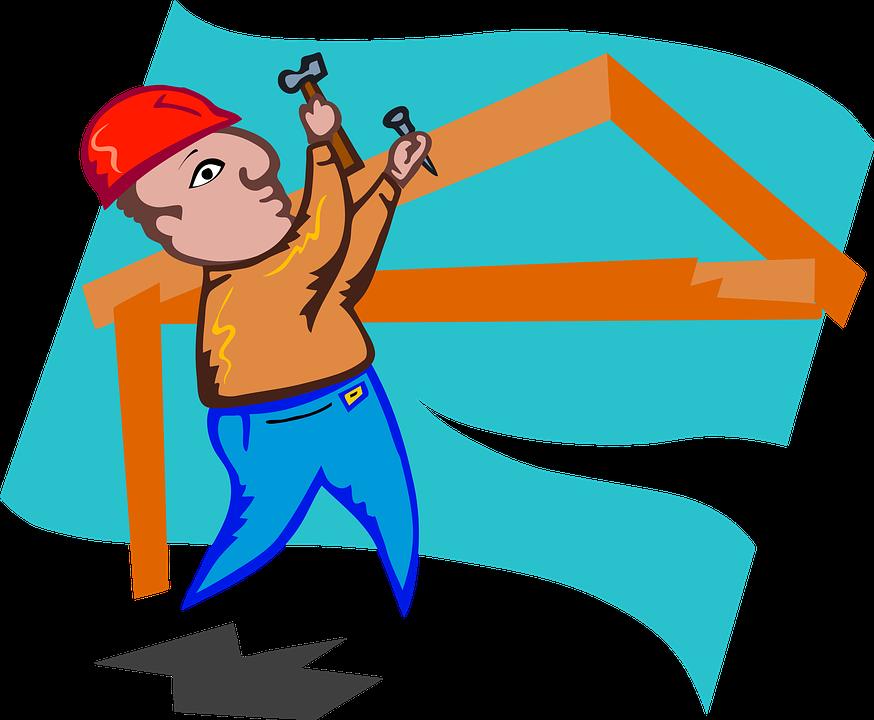 Bauarbeiter clipart schwarz weiß  Kostenlose Illustration: Bauarbeiter, Handwerker, Bauen ...