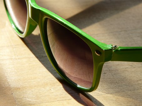 Sunglasses, Sun, Dark, Green, Glasses