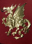 dragon, cute, golden